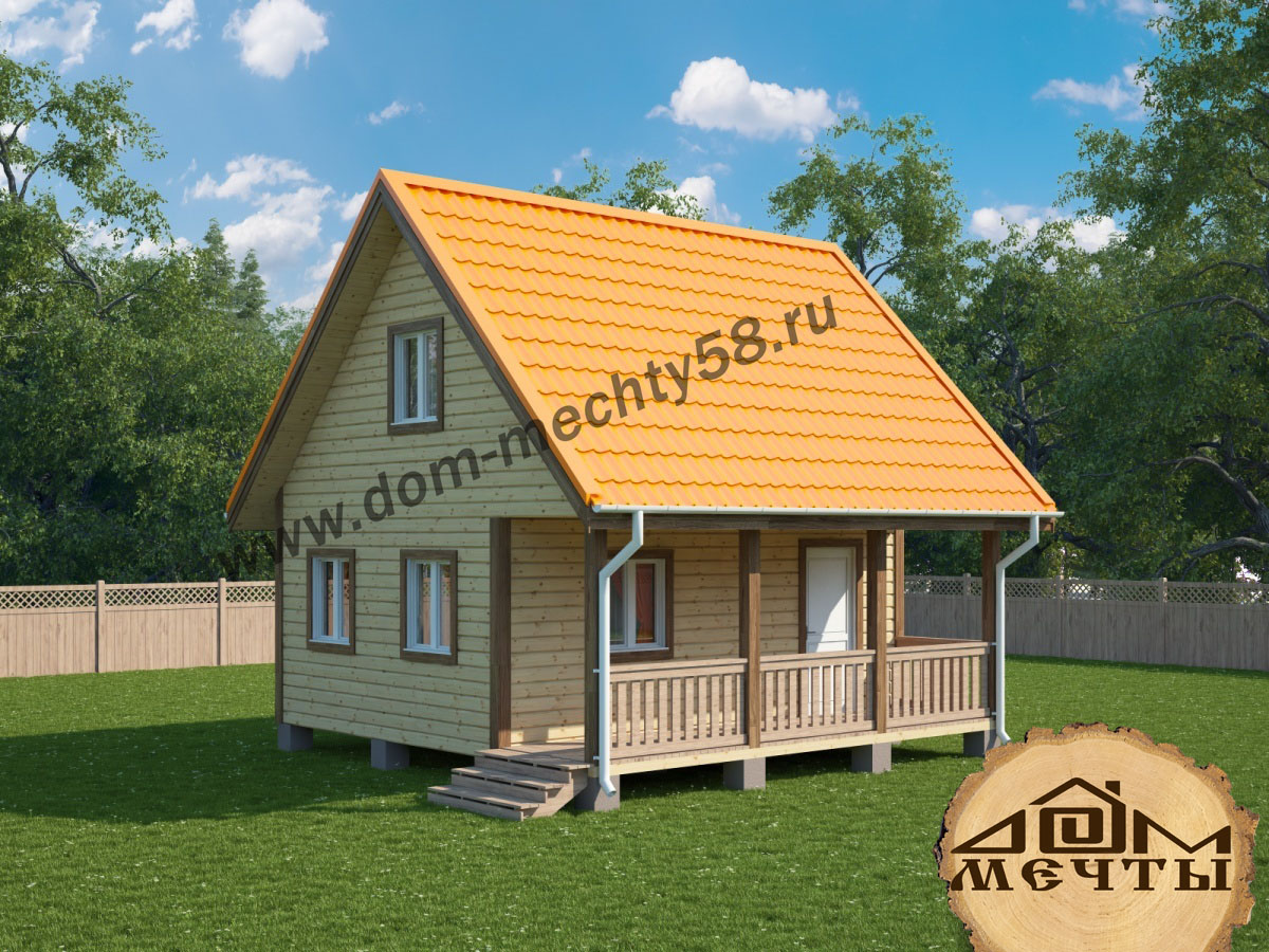 Строительство дома из бруса 8 на 6 с мансардой своими руками 43